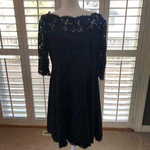 Eliza J Black Lace Short Dress